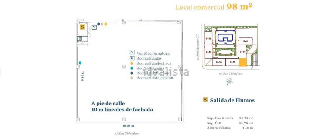Zona Pueblo Nuevo – Se alquila local en bruto de 98m2